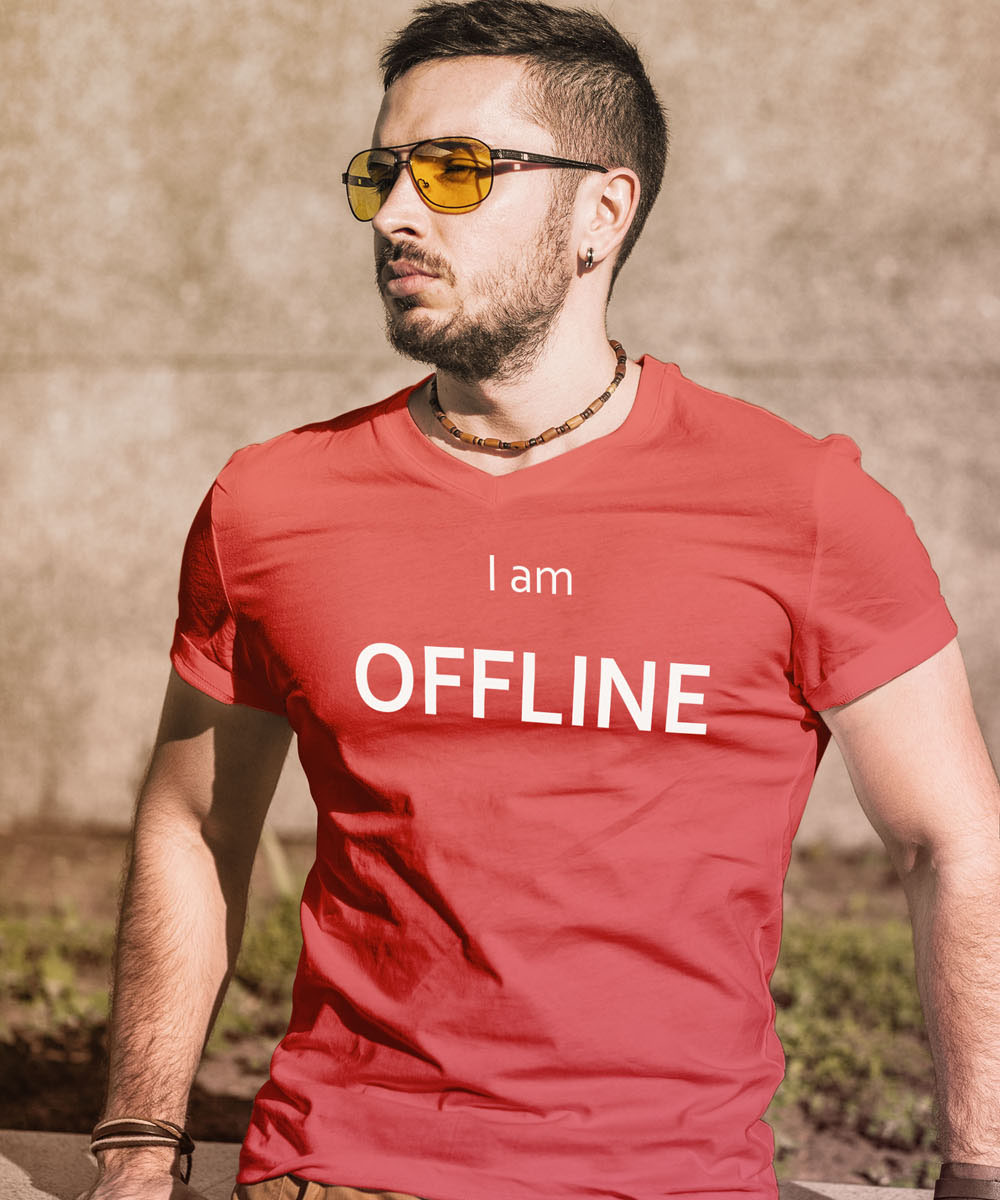 I am Offline Geek Computer T-Shirt