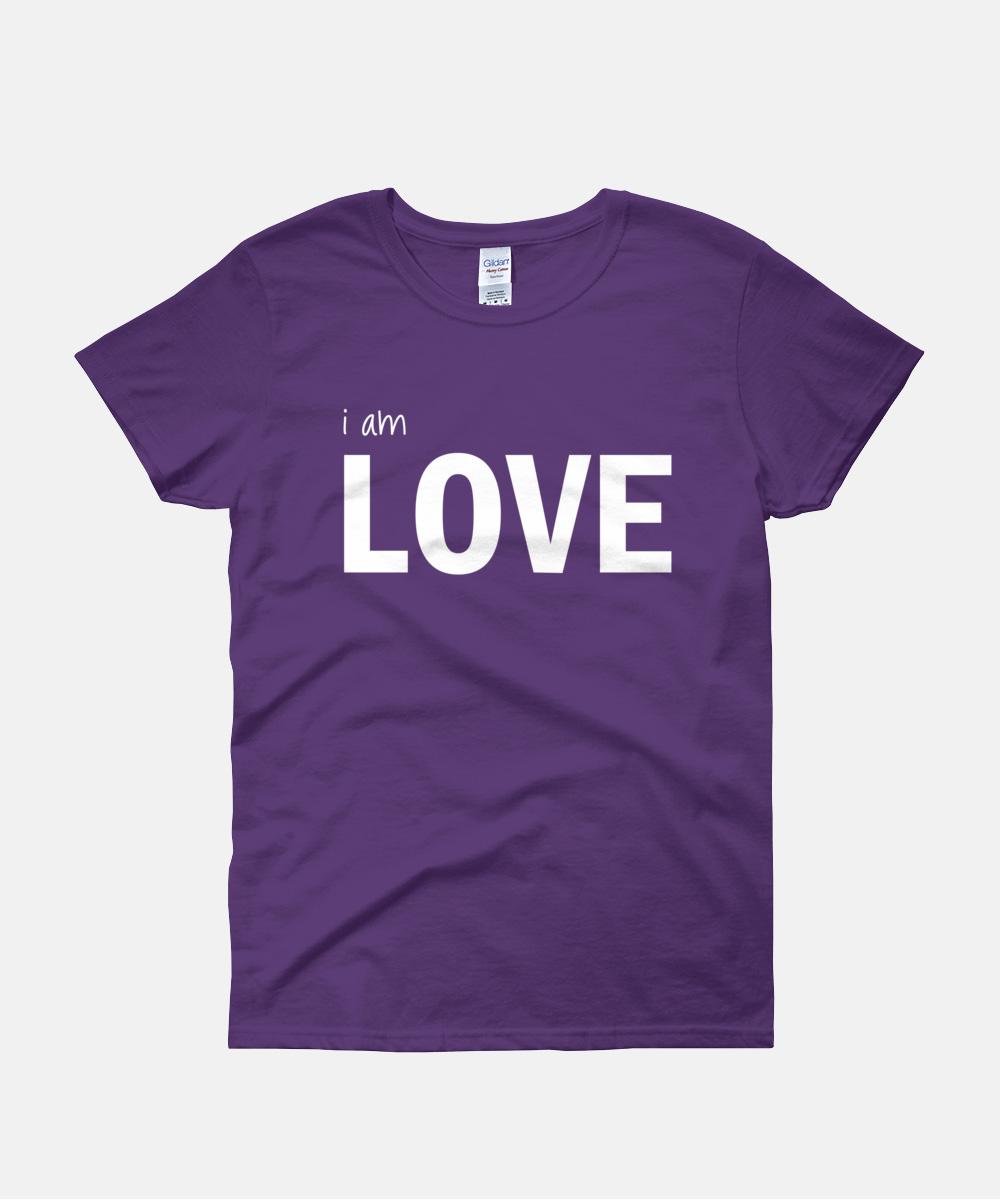 I am Love Women T-Shirt - Purple